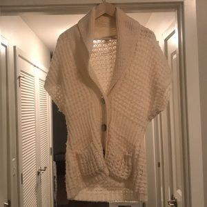 Cream cardigan sweater